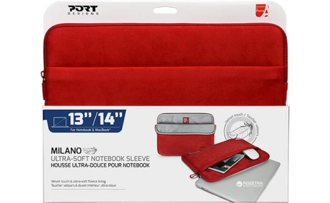 "Port Designs Port Milano 140704 Sleeve 13/14""  - Red"