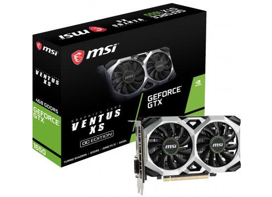 MSI NVIDIA GeForce GTX 1650 4GB VENTUS XS OC Turing