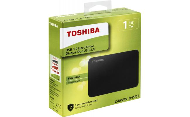 Toshiba Canvio Basics 1TB External USB 3.0 HDD/Hard Drive