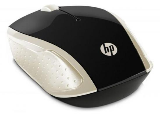 HP 200 Wireless Mouse Gold USB Optical