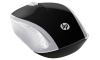 HP 200 Wireless Mouse Silver USB Optical