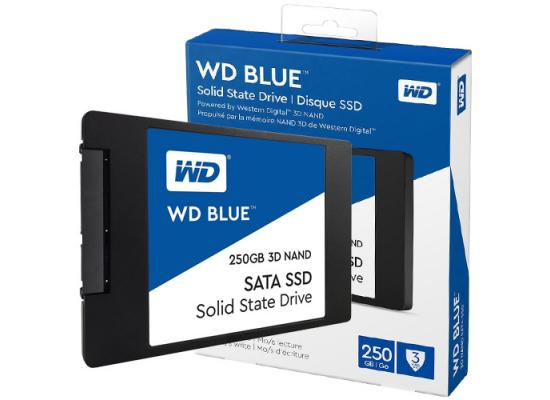 "WD 250GB Blue 3D NAND SATA III 2.5"" Internal SSD"