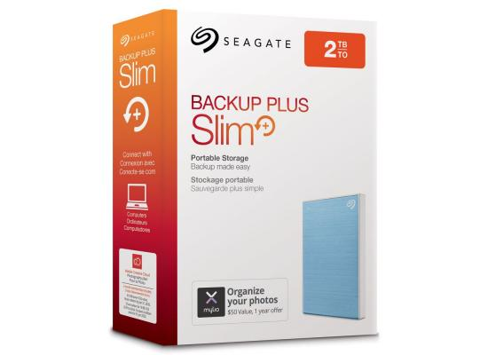SEAGATE BackupPlus Slim Portable HDD - 2TB, Blue