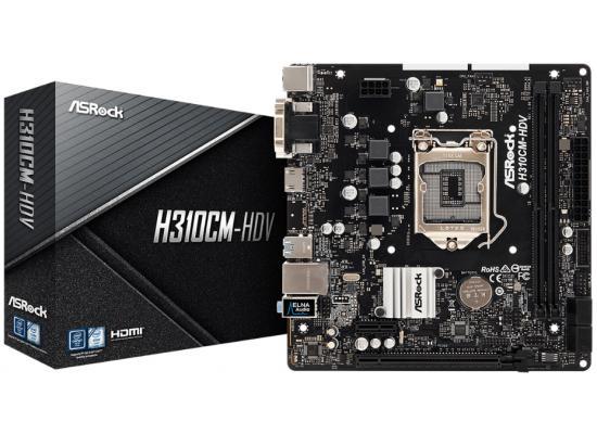ASRock H310CM-HDV Intel H310 HDMIUSB 3.1 Micro ATX