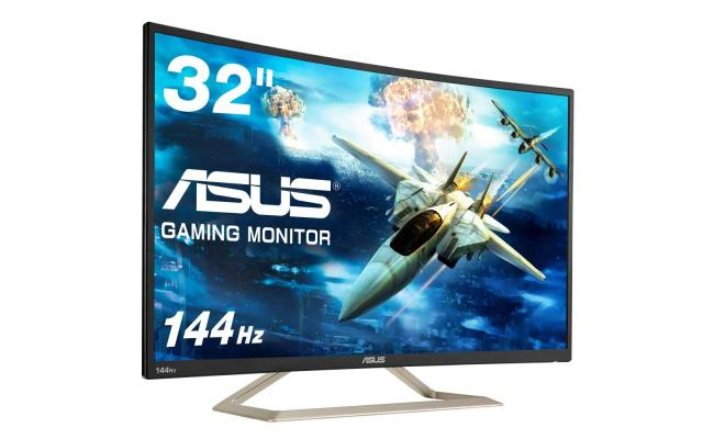 """ASUS Curved VA326H 31.5"""" Full HD 144Hz , Eye Care Monitor"""