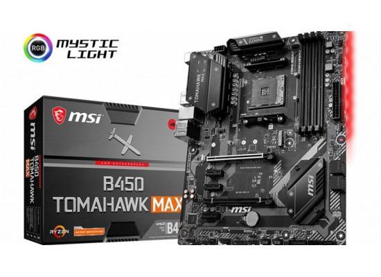 MSI B450 TOMAHAWK MAX AMD B450 ATX Motherboard