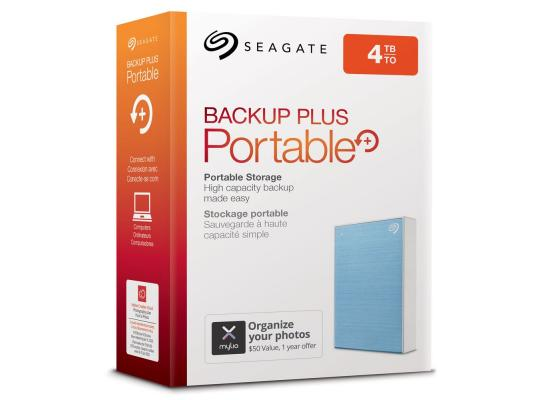 SEAGATE BackupPlus Slim Portable HDD - 4TB, Blue
