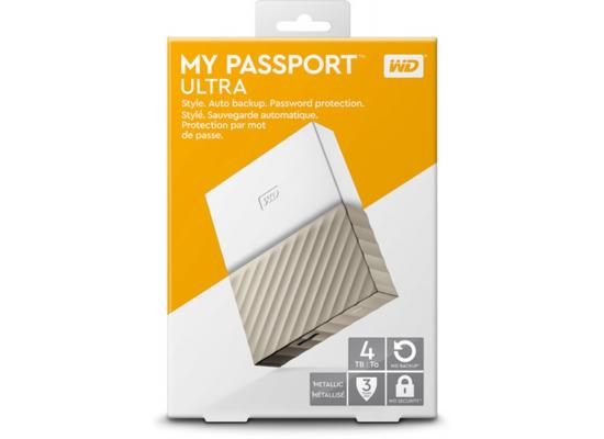 WD 4TB My Passport Portable NO Power HDD (Gold)