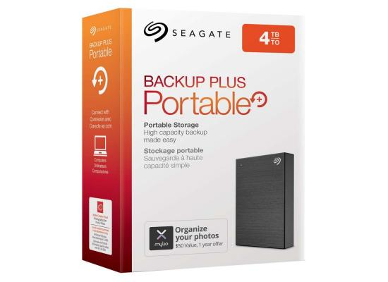 SEAGATE BackupPlus Slim Portable HDD - 4TB, Black