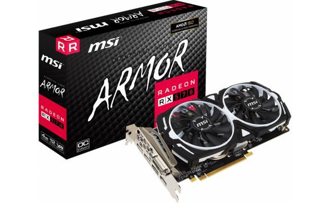 MSI AMD Radeon RX 570 ARMOR OC 4GB GDDR5