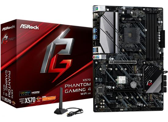 ASRock X570 PHANTOM GAMING 4 WIFI AX AM4 Motherboard