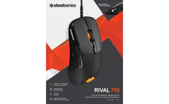 SteelSeries Rival 710 GTacile Alerts and OLED Display