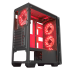 Xigmatek ASTRO Red LED Fans Tempered Glass
