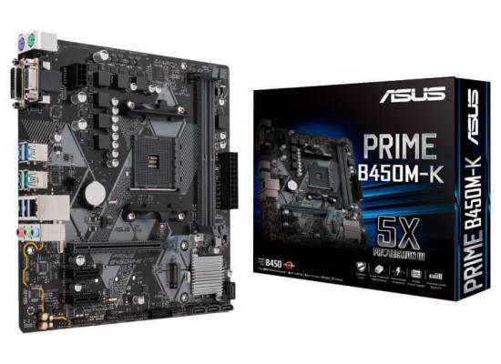 ASUS PRIME B450M-K AMD B450 Micro ATX Motherboard