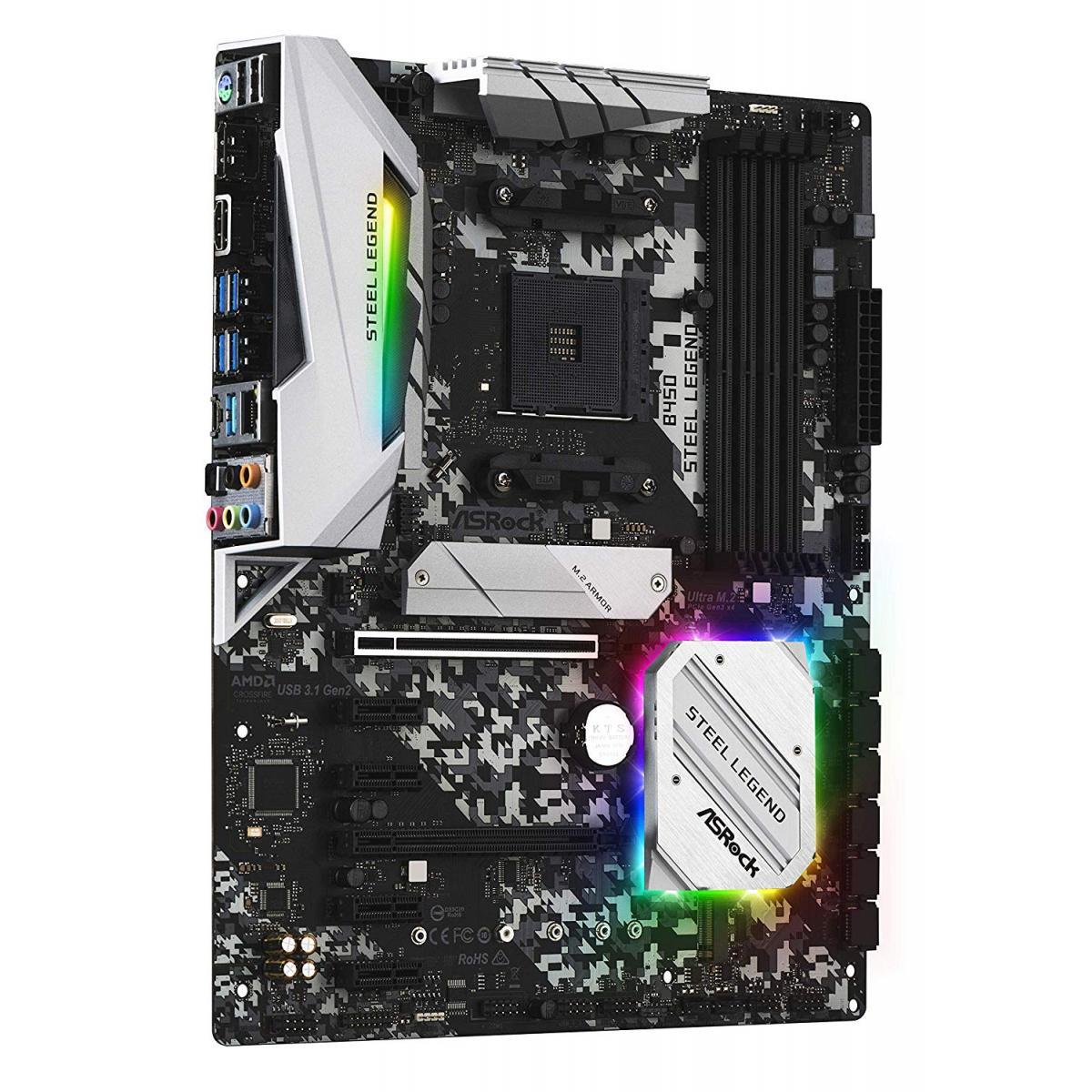 ASRock AMD B450 Steel Legend Ryzen AM4 ATX Motherboard