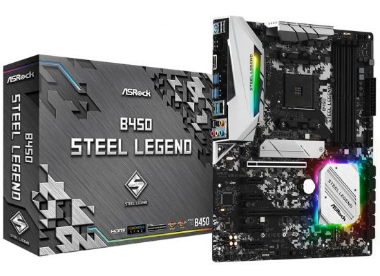 ASRock AMD B450 Steel Legend Ryzen AM4 ATX Motherboard