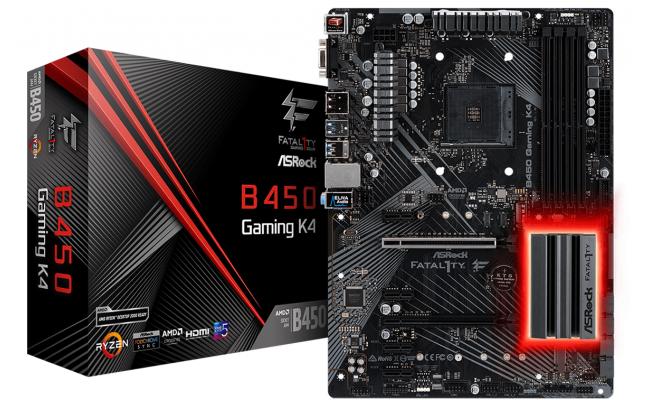 ASRock AMD Fatal1ty B450 K4 Ryzen ATX Motherboard