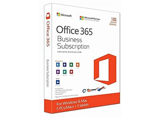 Microsoft Office 365 Business Premium , 5 PCs, PC/Mac