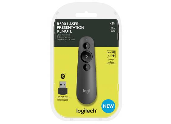 Logitech R500 Laser Presentation Remote - Bluetooth & USB