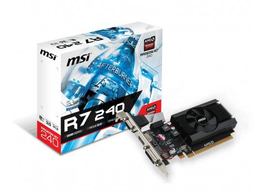 MSI Radeon R7 240 2GD3 64b LP 2GB 64-Bit DDR3 Low Profile