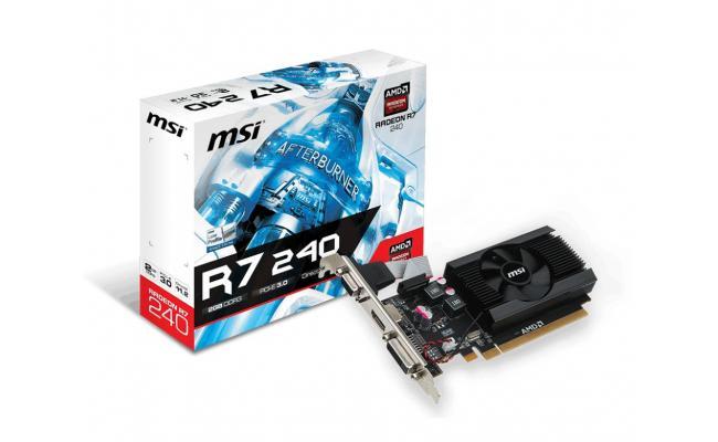 MSI Radeon R7 240 2GD3 64b LP 2GB 64-Bit DDR3 Low Profile