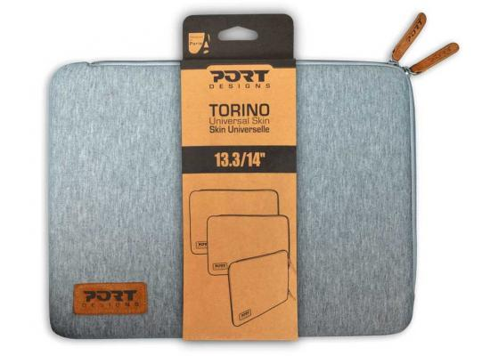 "Port Designs 14038 Torino Shockproof Skin Sleeve 13.3""  - Grey"
