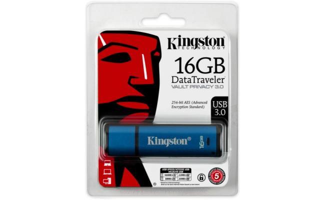 Kingston 16GB DT Vault Privacy 3.0 Standard USB Flash