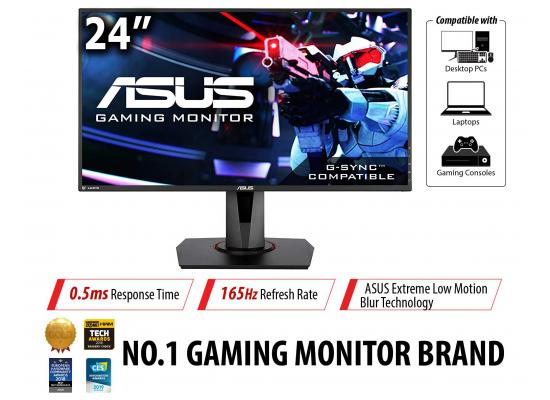 "Asus VG248QG 24"" FHD 165Hz .5ms  FreeSync w/ Speakers"
