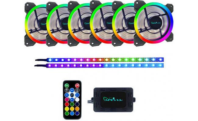 Apevia SP612 Spectra 6x RGB Fan + 2 Magnetic LED Strips