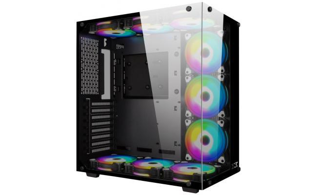 Xigmatek Aquarius Rainbow RGB Tempered Glass