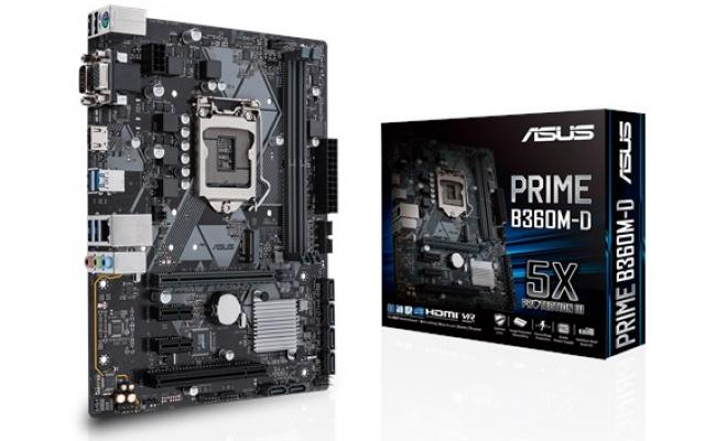 Asus Prime B360M-D Intel B360 DDR4 Motherboard
