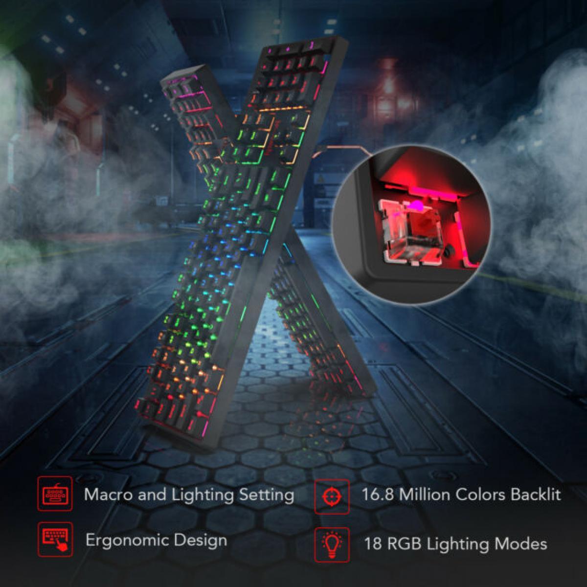 REDRAGON SURARA K582 RGB Mechanical Red Switches