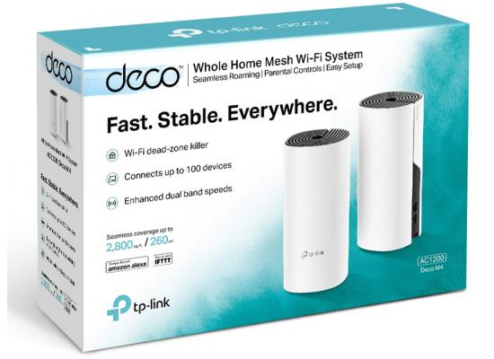 TP-Link Deco M4 AC1200 Whole Home Mesh WiFi (2-Pack)