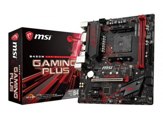 MSI B450M GAMING PLUS AMD B450 Motherboard