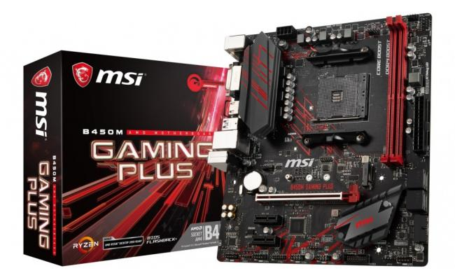 MSI B450M GAMING PLUS AMD B450 Motherboard