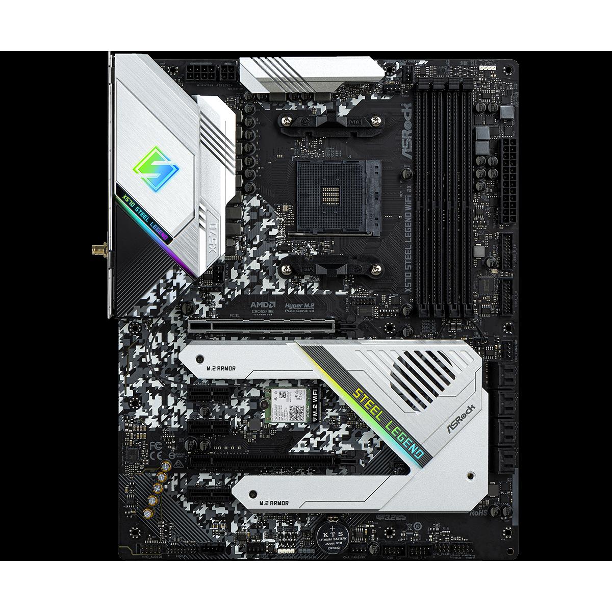 ASRock AMD Ryzen X570 Steel Legend AM4 PCIe 4 0