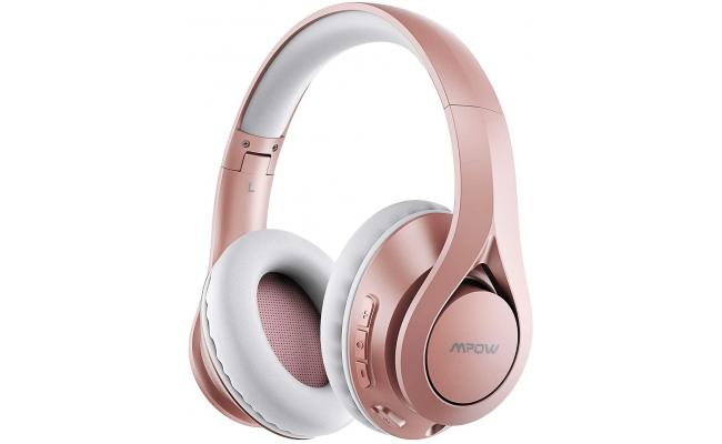 Mpow 059 Lite 60h Long Playtime Bluetooth 5.0 Hi-Fi Stereo Noise Reduction, Gold