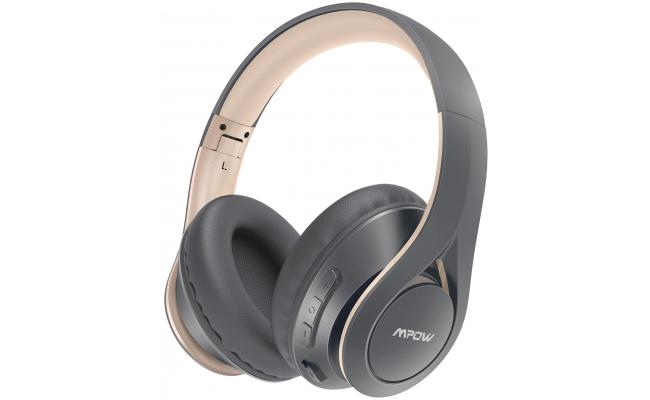 Mpow 059 Lite 60h Long Playtime Bluetooth 5.0 Hi-Fi Stereo Noise Reduction, Grey