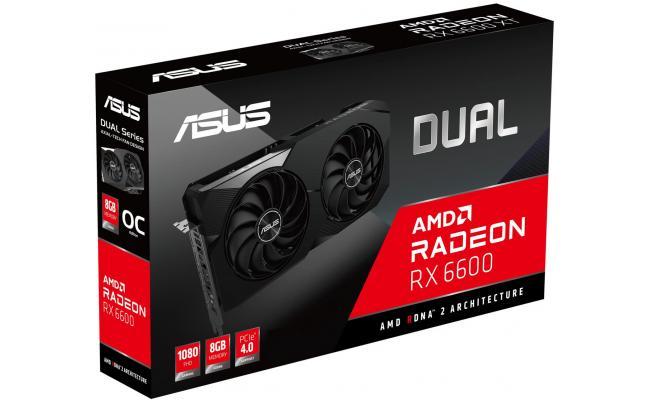 ASUS Dual Radeon RX 6600 8GB PCI Express 4.0 Video Card