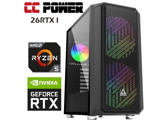 CC Power 26RTX I Gaming PC AMD Ryzen 5 w/ RTX 2060