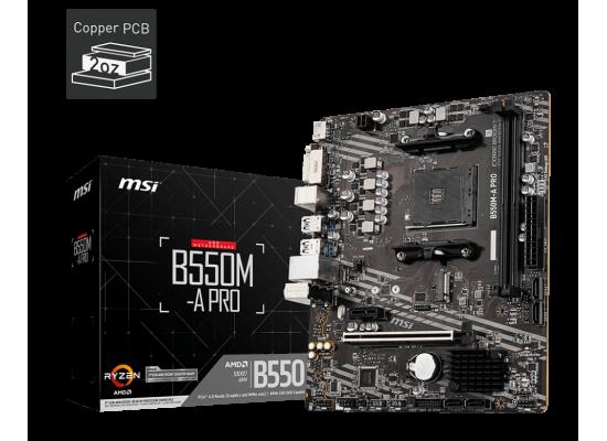 MSI PRO B550M-A PRO AM4 AMD B550 MATX AMD Motherboard