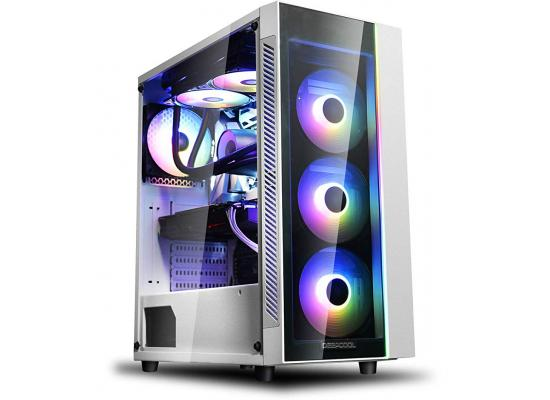 DEEPCOOL MATREXX 55 V3 Tempered Glass White Edition