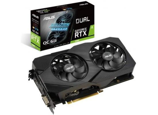 ASUS NVIDIA RTX 2060 6GB DDR6 DUAL EVO OC Edition