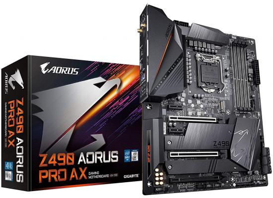 GIGABYTE Z490 AORUS PRO AX Dual M.2 Intel WiFi 6 Gaming Motherboard
