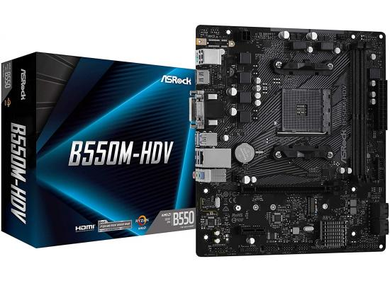 ASRock B550M-HDV AM4 M.2 Support Micro-ATX Motherboard