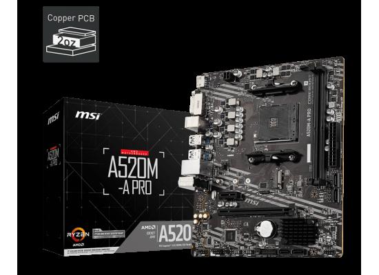 MSI A520M-A PRO AMD A520 M.2 Micro ATX AMD Motherboard