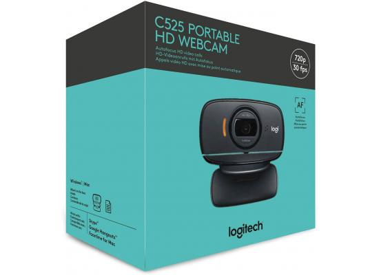 Logitech C525 Portable HD 720p Video Calling with Autofocus - Black