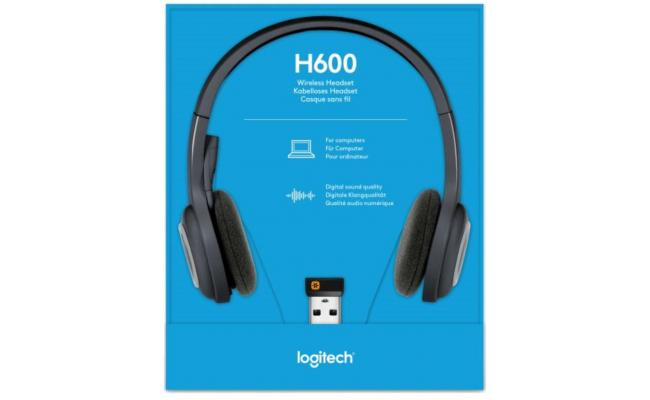 Logitech Over-The-Head Wireless Headset H600 USB - Black