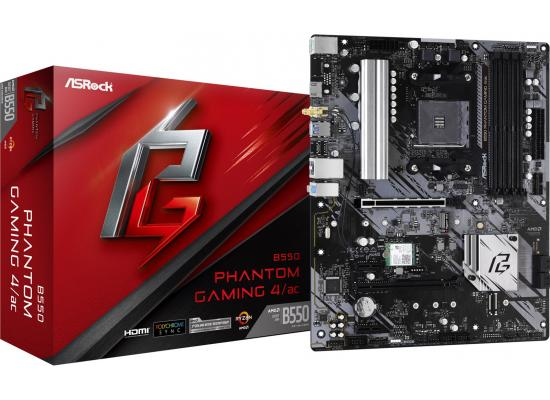Asrock AMD B550 Phantom Gaming 4 AC (Wi-Fi) Motherboard