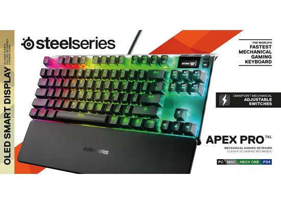 SteelSeries Apex Pro TKL Adjustable Actuation Switches OLED Smart